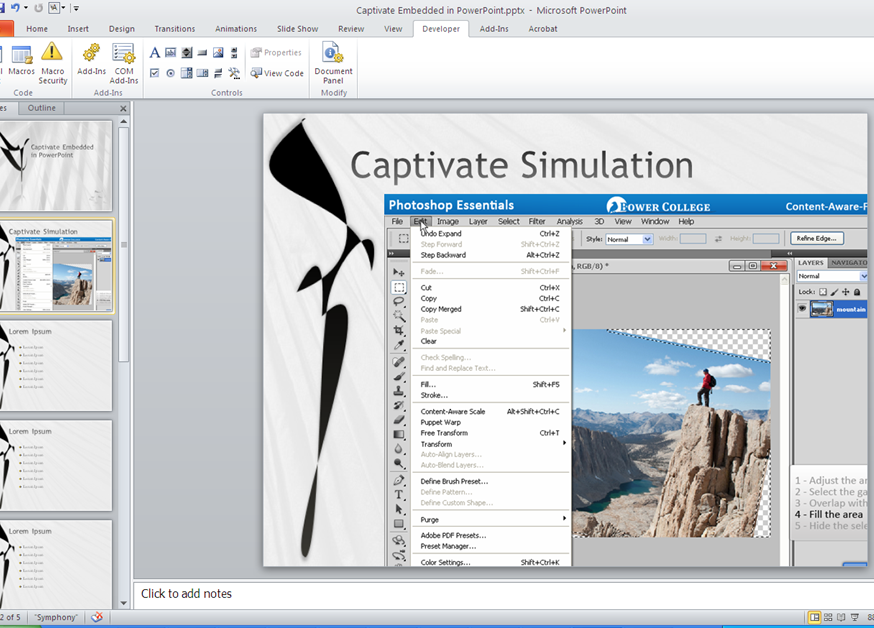 embedding adobe captivate recordings in powerpoint presentations