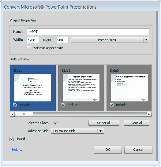 Converting Microsoft PowerPoint presentations to HTML5 (web