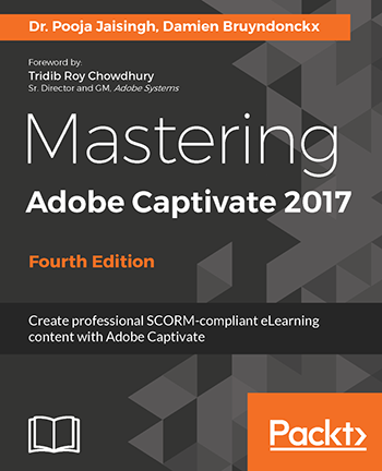 Cover image of Mastering Adobe Captivate 2017