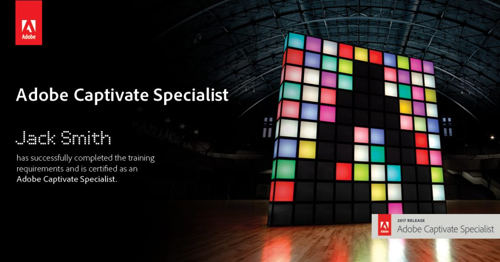 Announcing Adobe Captivate Specialist Certification Elearning