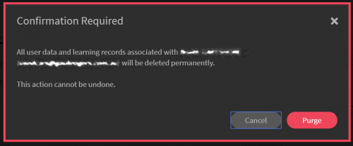 Purge Confirmation Dialog