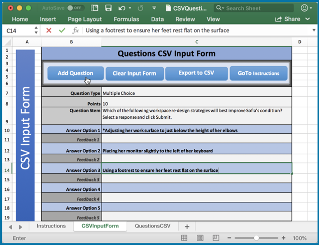 Adobe Captivate (2019 release) and CSV question import template