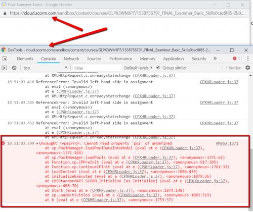 Resolve Failed SCORM- with Synchronous XMLHttpRequest Error