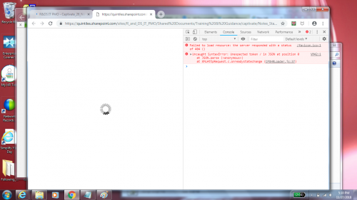 Captivate generated HTML5 output not loading from SharePoint