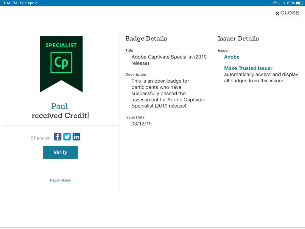 adobe certification captivate specialist verify button system