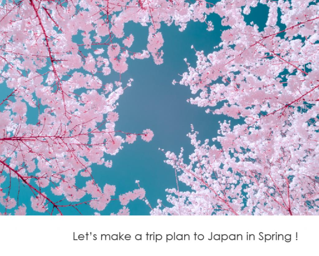 Let's make a trip plan to Japan